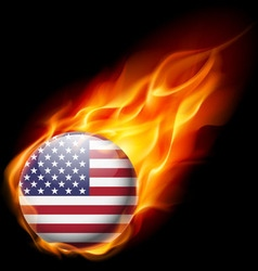 Round glossy icon of usa vector image