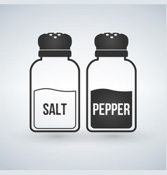 Salt and pepper shakers flat design icon vector