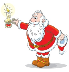Santa Claus with a candle vector image