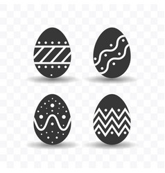 set easter egg icon simple flat style vector image