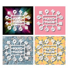 Set hand made label vector