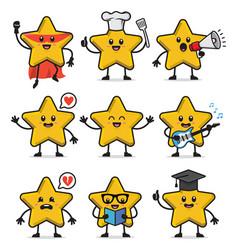 set star character design vector image