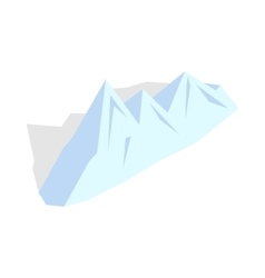 Snowy mountains icon isometric 3d style vector image