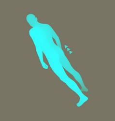 Standing man design element man stands on his feet vector