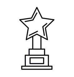 star trophy award icon vector image