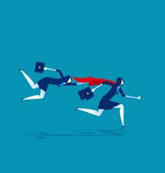 Super leader for business team concept business vector