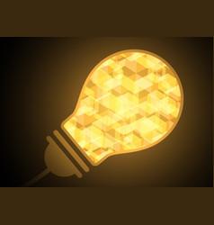 technology future light bulb hexagon vector image