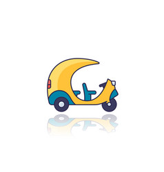 Tuk taxi icon side view vector