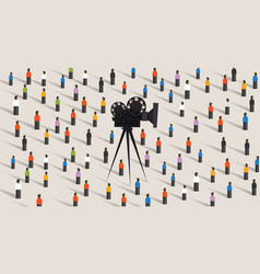 video camera online social vector image