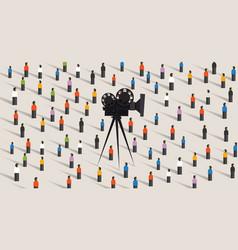 Video camera online social vector