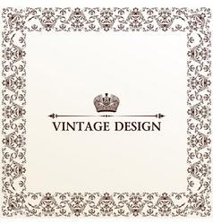 vintage royal retro frame ornament vector image