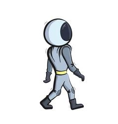 walking astronaut vector image