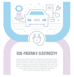 Website banner and landing page eco-friendly vector