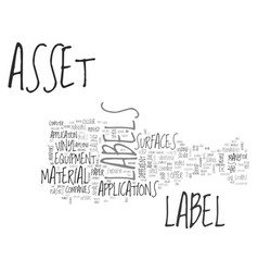 What type asset labels do i need to buy for my vector