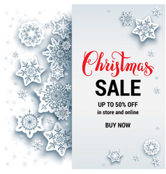 white sale winter card vector image