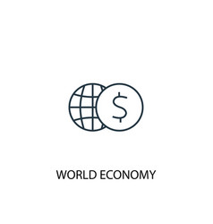 world economy concept line icon simple element vector image
