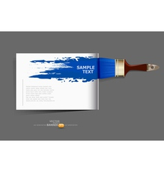 background brochure with a brush vector image