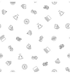 gambling hand drawn seamless pattern background vector image vector image