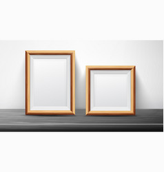 realistic black frame set good for posters vector image vector image