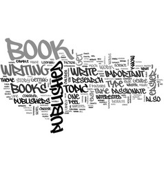 what type of books are easier to get published vector image vector image