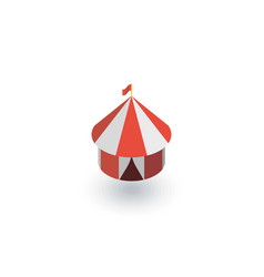 circus tent isometric flat icon 3d vector image