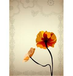 flower vintage vector image vector image