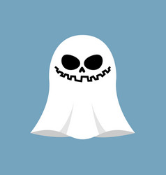 ghost isolated white spook on blue background vector image vector image