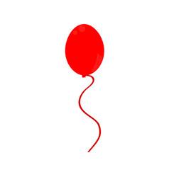 red balloon icon vector image vector image