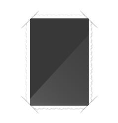 Retro Photo Frame On White Background vector image vector image