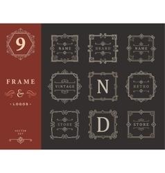 Set Luxury Logos and Monogram Template vector image