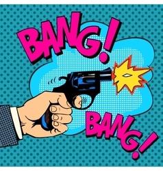 The gunshots gangster murder vector image vector image