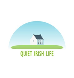 Traditional Irish House vector image vector image