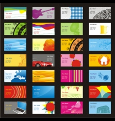 visit cards with different layouts vector image