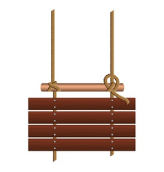 Wood sign on a rope vector