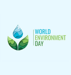 world environment day - waterdrop concept vector image vector image