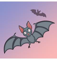 Bats cartoon in fly vector image vector image