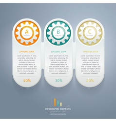 Color Gears Infographic Number Options vector image