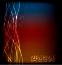 EPS10 abstract lines design on background vector image