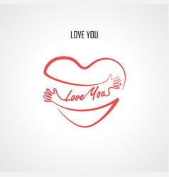 love you typographical design elements vector image