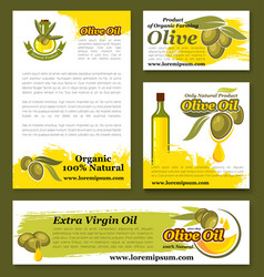 olives olive oil product templates set vector image vector image