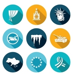 USA Russia conflict Icons Set vector image vector image