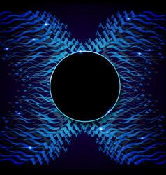 wave moving blue vector image