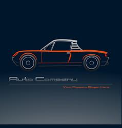 abstract retro sport car design vector image