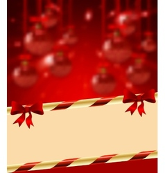 Christmas holiday bright background with ball vector image vector image
