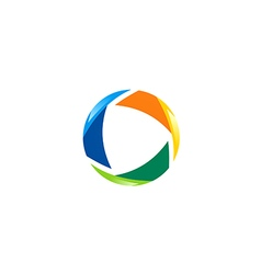 circle abstract technology business logo vector image vector image