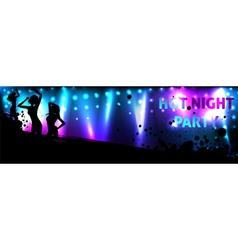 dance banner vector image vector image