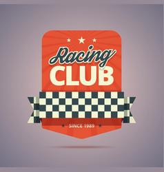 Racing club badge vector image