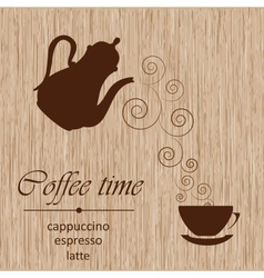 Template of a coffee menu vector image vector image