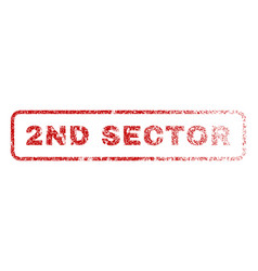 2nd sector rubber stamp vector