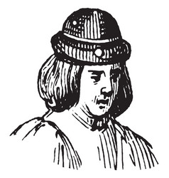 A french born dynasty vintage engraving vector